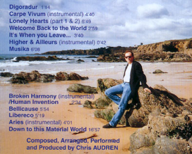 back cover and track listing